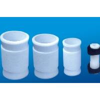 White PTFE tube , 2.10g/cm³ PTFE Soft Joint / PTFE Material For Metal Tube Manufactures