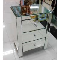 UK Style Mirrored Night Stands Metal Slider Drawer Customized Size Manufactures