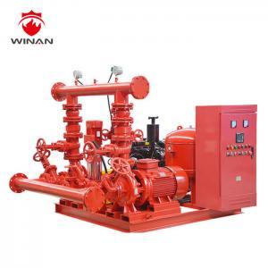 Split Case  Diesel Fire Pump Package Fire Fighting Water Pump NFPA Standard Manufactures