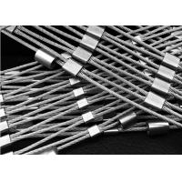 China Handwork Stainless Steel Wire Rope Mesh Unique Design For Animal Enclosure on sale