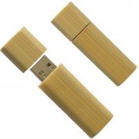 Quality Secure Bamboo USB Flash Drive 32GB Large Capacity USB 2.0 With LED Light for sale