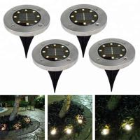 Yellow Solar Powered LED Ground Lights / Solar Powered Walkway Lights Manufactures