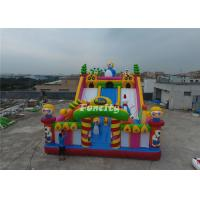 Double Stitching PVC Tarpaulin Inflatable Slide Fun City Inflatable Bouncing Castle Manufactures