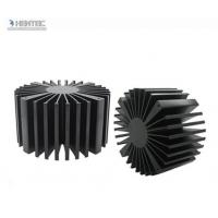 T4 T5 T6 Temper Heat Sink Aluminium Extrusion Profiles with Black Anodized Manufactures