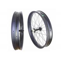 "Disc Brake 26"" Carbon Fat Bike Wheels Tri Spoke Tubeless Clincher For Snow / Beach Manufactures"