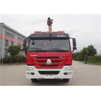 6x4 Drive Water Tower Fire Truck With Electronic Unit Pump Diesel Engine Manufactures