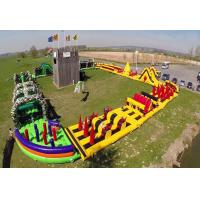 Quality Fireproof Fun Run Inflatable Sports Games / Inflatable Obstacle Challenge for sale