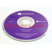 China Win 10 Pro OEM 64 Bit Package System Builder DVD 1 Pack  English / Portuguese / Italian / Polish / Japanese on sale