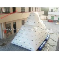 Big 7mL Water Iceberg Inflatable Water Climbing Wall For Floating Aqua Parks Manufactures