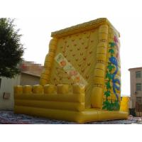 0.55mm PVC Tarpaulin Inflatable Sports Games / Exciting Outdoor Rock Inflatable Climbing Mountain Manufactures