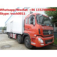 Quality HOT SALE! bigger volume dongfeng tinalong 8*4 LHD refrigerator truck for seafood for sale