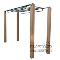 Steel outdoor exercise equipment horizontal ladder climbing ladder monkey bars Manufactures