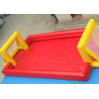Red Outdoor Football Playground Inflatable Sports Games For Kids Manufactures