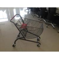 Fan shape small store shopping cart with color powder coating and amercian handle Manufactures