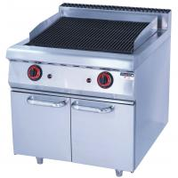 Quality Stainless Steel 380V Gas Lava Rock Grill With Cabinet 12KW For Kitchen Equipments for sale