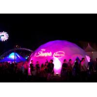 8m Diameter Heavy Special Outdoor Aluminium Geodesic Dome Tent , Large Dome Tent Manufactures