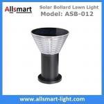 30cm/12inch Solar Yard Light Cement Bollard Solar Pathway Lamp Aluminum Black for Hardscape Solar Bollard Lawn Light Manufactures