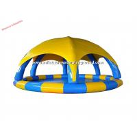 Fun Commercial Rental Outdoor Water Toys Inflatable Pool Tent , Waterproof Manufactures