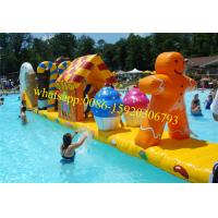 inflatable water floating playground , water playground , water park playground , inflatable pool obstacle Manufactures