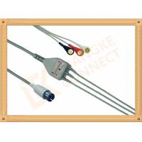 Buy cheap Generic AAMI ECG Patient Cable 6 Pin 5 Leads PVC Insulation Solid Conductor from wholesalers