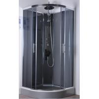 Commercial Quadrant Shower Cubicles , Curved Glass Shower Enclosures
