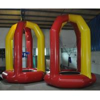 Quality 5 meter high airtight kids single inflatable bungee jump trampoline with 0.9mm for sale