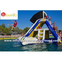 Kids Fun Floating Inflatable Slide With Shelter For Water Sports Games Manufactures