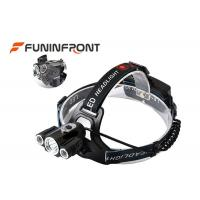 3 * CREE XML T6 Outdoor Led Headlamp with 180 Degree Up / Down Adjusting Angle Manufactures