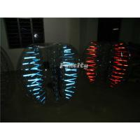 Led Light Shinning Inflatable Bubble Ball PVC / TPU For Play Soccer Manufactures
