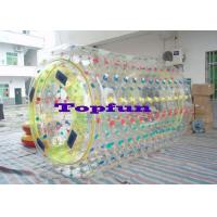 Cylindrical PVC / TPU Inflatable Rolling ball Ball With Multicolored D Ring Manufactures