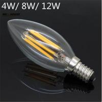 New Design LED Filament E14 Bulb 4W 6W 8W 12W AC 220V 230V Dimmable Lamp Edison Glass Candle Lights Lighting Manufactures