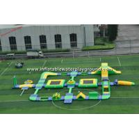 Yellow / Green Inflatable Water Park , Inflatable Water Games For Entertainment Manufactures