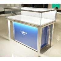 Aluminum Alloy Frame Mobile Jewelry Store Showcases Lighted Jewelry Display Case Manufactures