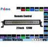 120W 22 Inch LED Fog Light Bar , Spot / Flood / Combo RGB Halo LED Light Bar Manufactures