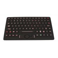 IP68 red backlit rubber flat movable keyboard with FSR mouse for police car Manufactures