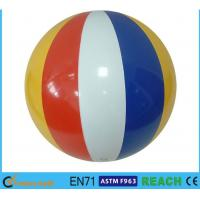 "16"" Dia Giant Beach Ball,Rainbow Colored Plastic Beach Balls For Swimming Pools Manufactures"