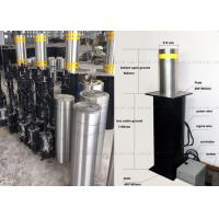 Remote Control Cast Lift Bollards , Electric Hydraulic Rising Steel Bollards Manufactures