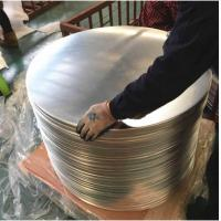 Chemical / Food  Silver AA3003 Aluminum Disc , Aluminum Wafer CC  DC Material Manufactures