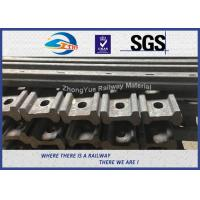 45# 50# 4 / 6 Hole 136 RE Railroad Joint Bars Angle Bars With Hole Spacing Manufactures