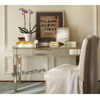 Home Mirrored Writing Desk , Champagne Gold Trimming Mirrored Office Desk Manufactures