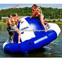 Quality Dark Blue / White Inflatable Saturn Rocker Floating Saturn On Water for sale