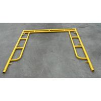 Yellow Coated Low Carbon Walk Through Scaffolding Frames American Design 5x5 Manufactures