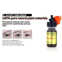 Buy cheap Lush Color Permanent Makeup Ink Pigment Semi Cream 8ml / Bottle Micropigment from wholesalers