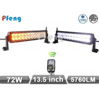 """13.5"""" 72W Cree Amber Flashing Led Light Bar With Remote Control for Offroad Manufactures"""