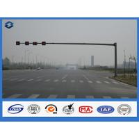 Reaching Long Arm Traffic Steel light Pole 6000mm - 7500mm Mounting Height traffic sign pole Manufactures