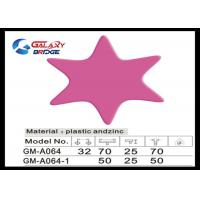 Pink Star Soft Kids Bedroom Knobs Customized Color Closet Pulls ISO Certified PVC Furniture Handles Manufactures