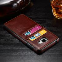 Crazy Horse Leather Back Cover For Samsung A5 TPU With Two Card Slots Manufactures