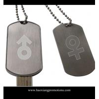 Promotional Zinc Alloy Nickel Free Engraved Custom Dog tags with USB drive Manufactures