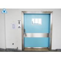 Outside Powder Coated Hospital Air Filter Blue Color With Single Swing Door Manufactures
