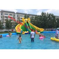 children large inflatable water pool with slide giant inflatable pool slide for adult Manufactures